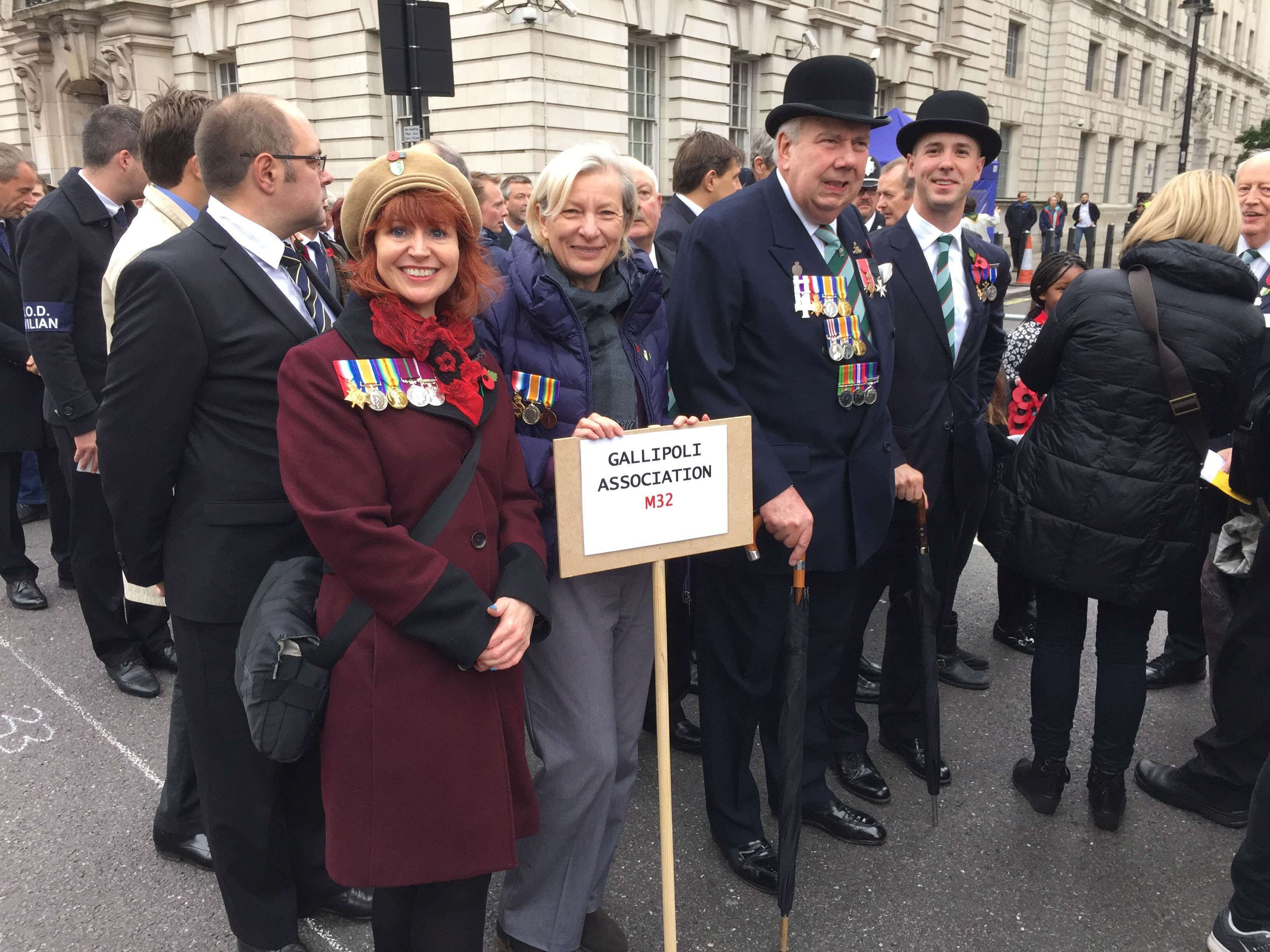 Gallipoli Association contingent forming up at Whitehall