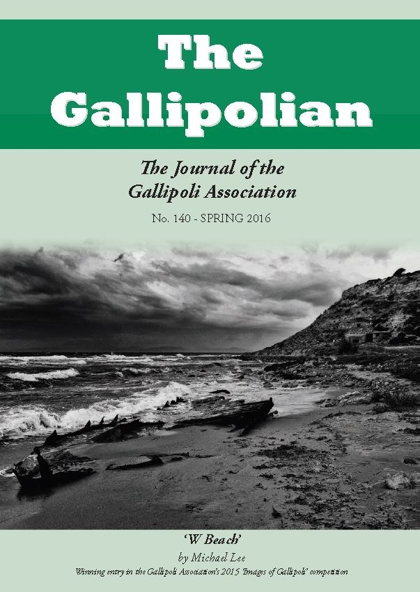THE WINTER 2016 ISSUE OF 'THE GALLIPOLIAN'