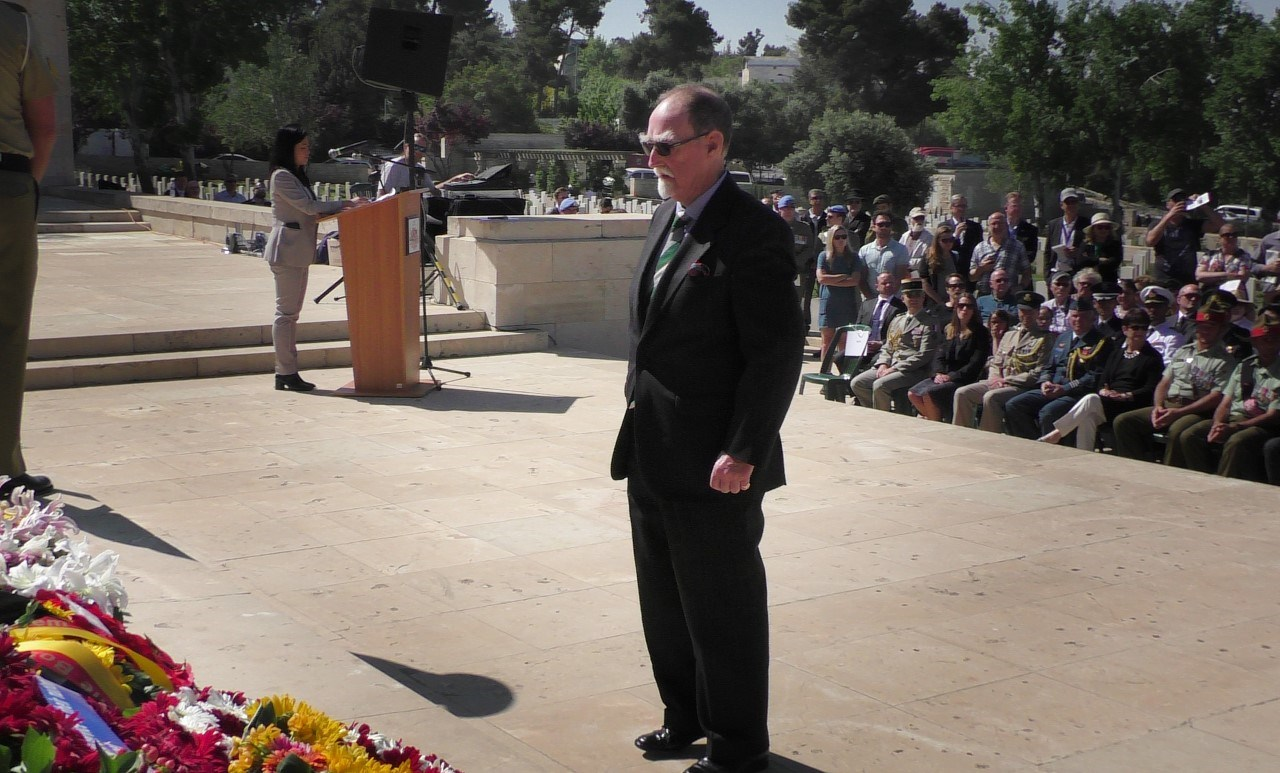 The laying of the Gallipoli Association wreath