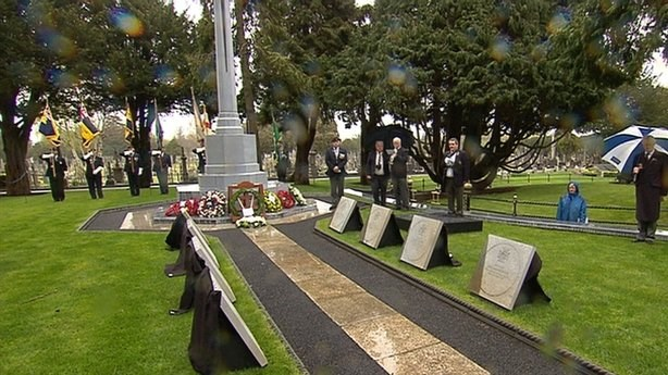 Gallipoli VC Stones unveiled in Glasnevin Cemetery Dublin 25 April 2015